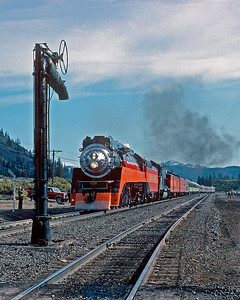 April 1981.  Approaching the water plug at Black Butte.  This plug, and the one at Wicopee on the line up to Cascade summit, survived because they were used to load tank cars with water during the summer fire season.