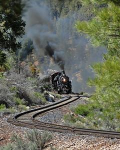 May 15, 2011.  Winding through Coconino Canyon.