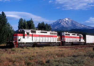 Switching at McClund prior to a run to Mount Shasta City.  July 2005.