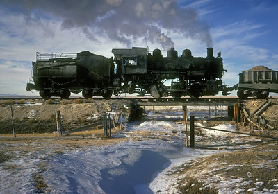 December 1961.  Laramie Cement Company, Laramie, Wyoming.  Ex-UP 0-6-0 now preserved at the Colorado Railroad Museum.