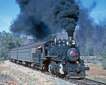 """May 1962.  Looks like a Central Coast Railway Club charter since the PV """"Ferroequinologist"""" looks to be bringing up the rear."""