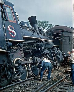 October 1963.  Photo by Rey Barraza.  Derailment at Jamestown.