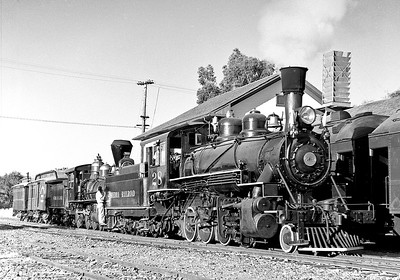 This is probably  May 1959 at Jamestown.  Central Coast sponsored a trip that involved Sierra 3 at Jamestown, Sierra 28 hauling to the train to Tuolumne, and Pickering Shay 11 putting in a cameo appearance between Fassler and Ralph.
