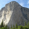 El Capitan!  We arrived in the arvo, just in time to get a site at Camp 4, then head around the Valley getting orientated.  The biggest attraction is of course El Cap, with the most famous rockclimb in the USA, 'The Nose' going right up the spine in the middle.  This piece of granite is almost a kilometre high!  And most people take 3-5 days to get up it!  (We're hoping to do it in 2!)
