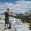 From this lookout, you can actually look back and see the back of Half Dome, even though we'd been driving for an hour since leaving the Valley!