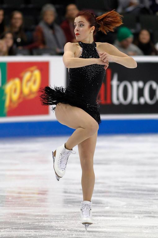 . Ashley Wagner skates in the women\'s short program during the U.S. Figure Skating Championships, Thursday, Jan. 21, 2016, in St. Paul, Minn.(AP Photo/Andy Clayton-King)