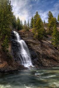 A 3 Exposure HDR of a Waterfall in Colorado.