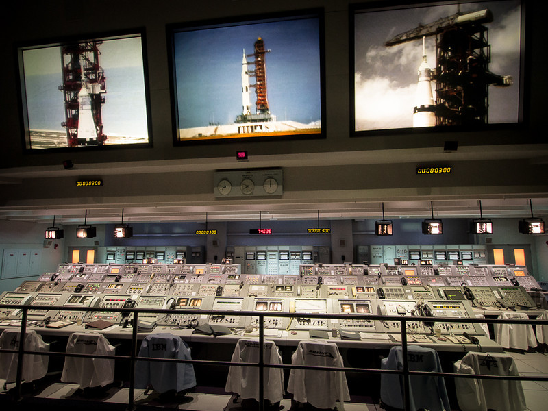 Mission Control for the Apollo missions. This is a mock up, but the control panels are the originals.