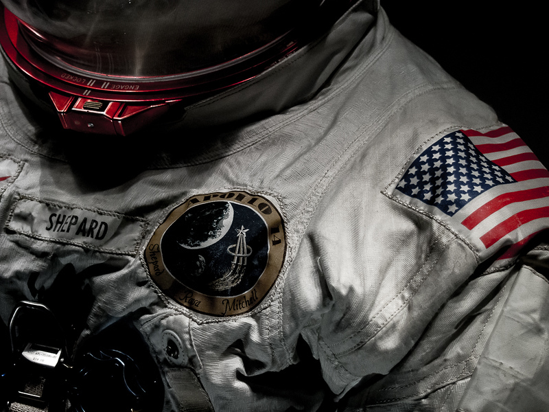 Alan Shepard's moon suit from Apollo 14.