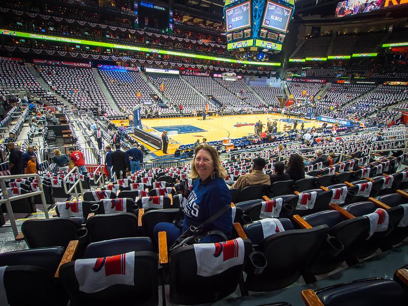 NBA game in Atlanta