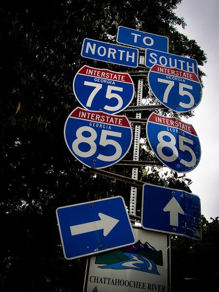 Road sign, Atlanta