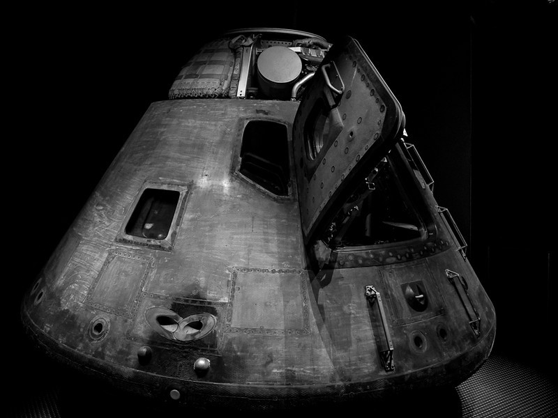 Apollo Command Module after return to earth.
