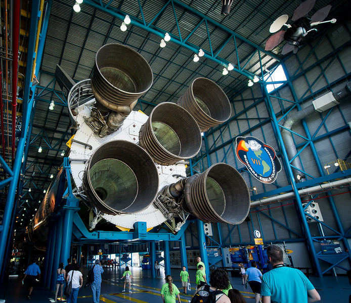 The business end of the mighty Saturn V.