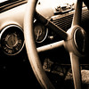 Interior of an old car seen in Atlanta