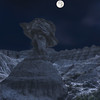Badlands Hoodoo at Night
