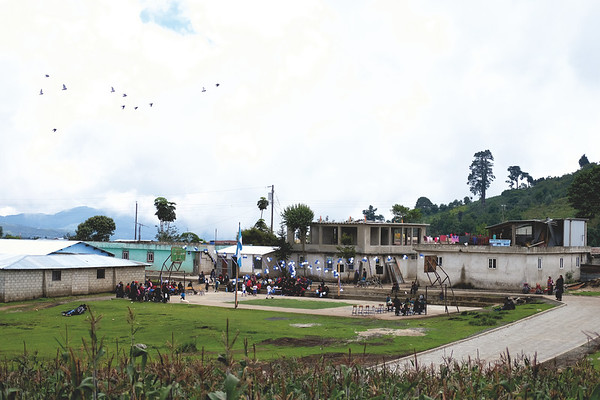 Day 1 trek to Lake Atitlan. A small independence day celebration. September 2018.