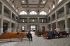 The grand interior of El Paso's Amtrak station
