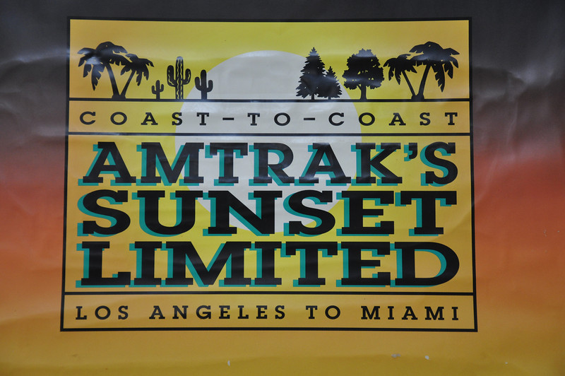 Not quite true! At the moment Amtrak's Sunset Limited only goes as far as New Orleans