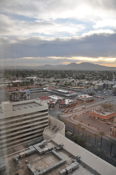 Dawn from our Stratosphere Hotel room window. We leave for Los Angeles today