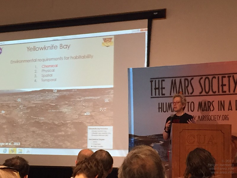 Pamela Conrad, Deputy Principal Investigator and Investigation Scientist for Curiosity Rover Sample Analysis, talks about the habitability aspects on Mars.