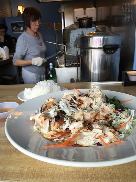 Tasty shredded grilled Chicken at Cordon Bleu Vietnamese Restaurant