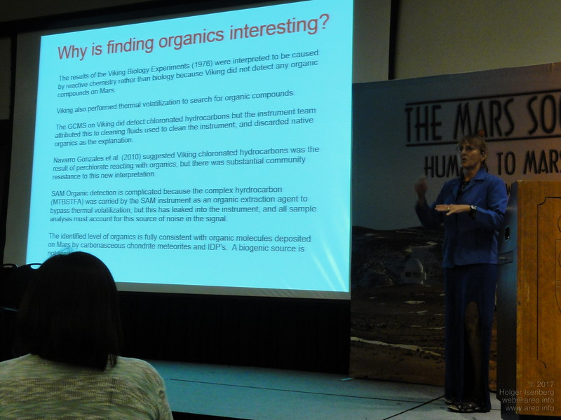 Carol Stoker, Planetary Scientist, NASA Ames Research Center, Co-investigator on the Phoenix mission and the Project Scientist for the Icebreaker Life mission, shows evidence about all required ingredients which could support imported life from Earth - usable for growing plants for instance.