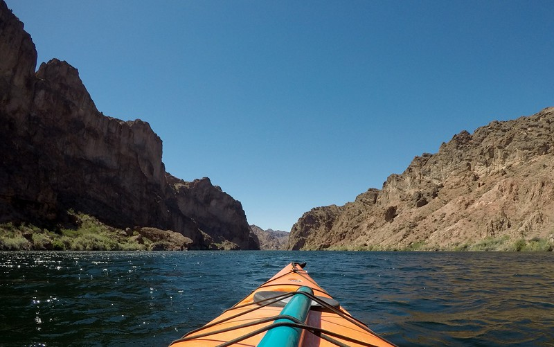 Kayaking down Black Canyon in Nevada
