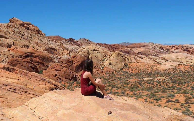 Enjoying the views on our day trip to Valley of Fire State Park.