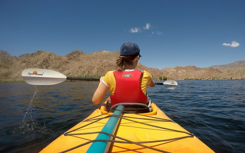 Kayaking in Black Canyon with Blazin Paddles was another fun nature escape in Nevada