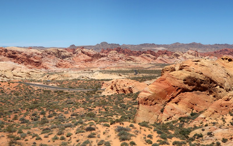 Enjoying the beautiful landscapes of Valley of Fire, Nevada.