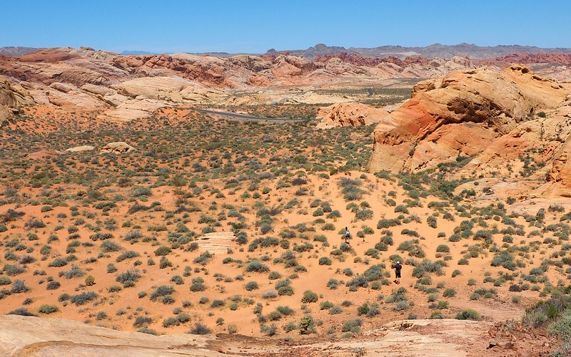 The views from Rainbow Vista in Valley of Fire