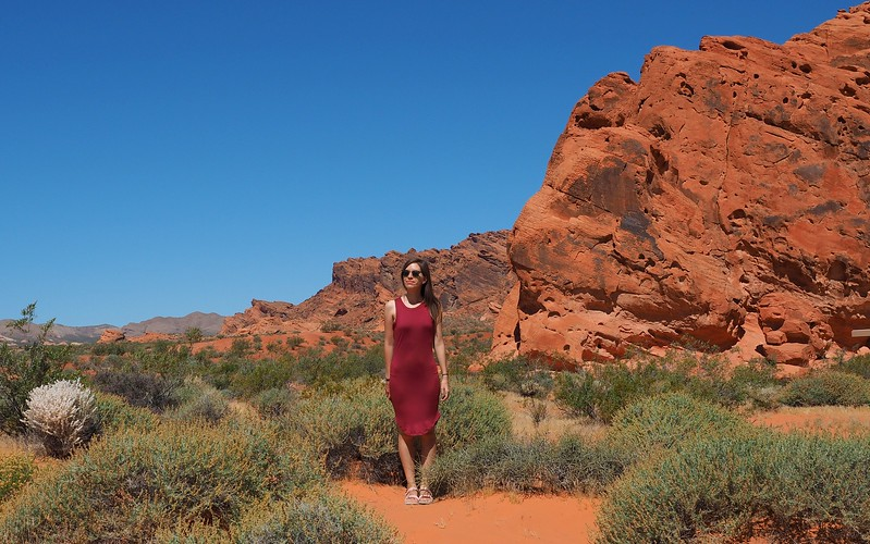 Red desert landscapes in Valley of Fire