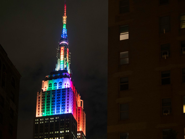 Gay pride, Empire State Building.