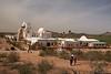 "AZ-San Xavier Mission-2008-02-18-0005<br /> <br /> Also called the ""WHITE DOVE of the DESERT"""