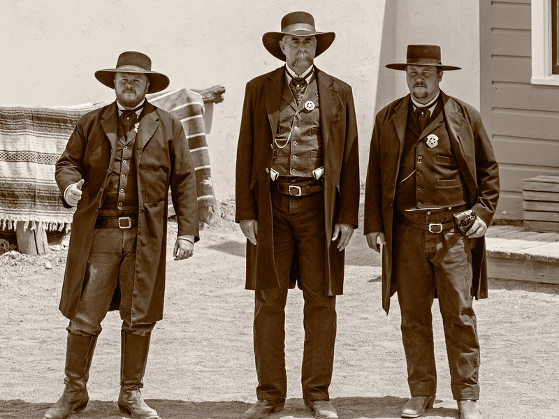 Gunfight at the OK Corral - Wyat, Virgil and Morgan Earp
