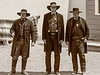 Gunfight at the OK Corral - Wyat, Virgil and Morgan Earp