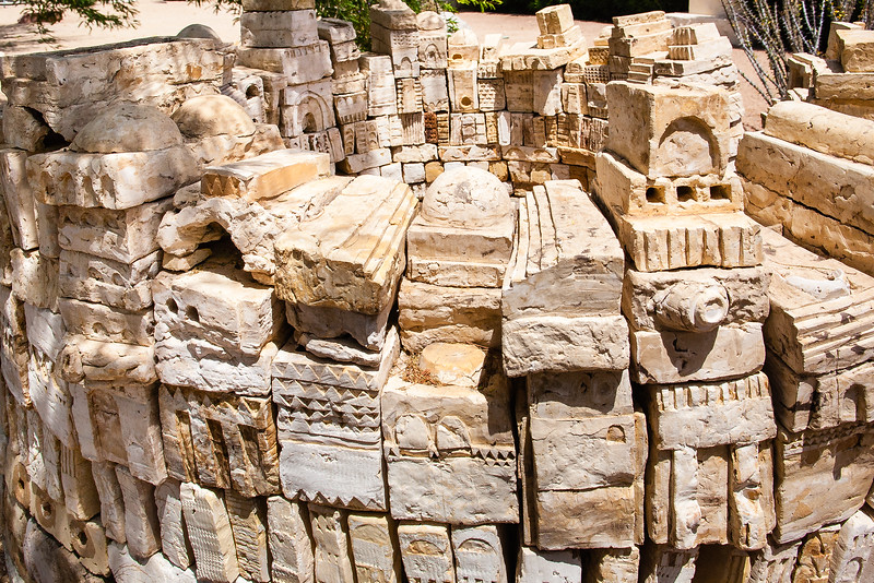 Shemer Art Center - Phoenix, AZ<br /> <br /> Blocks with Designs having an Archetectual Look to it...