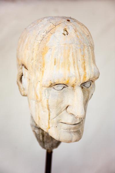 "Shemer Art Center - Phoenix, AZ<br /> ""Marco Eroding Man Series""<br /> in Concrete and Steel"