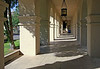 AZ-Phoenix-St  Francis Xavier-2005-10-09-2001<br /> <br /> The arches in this corridor provides the setting as light and shadow provides the drama.