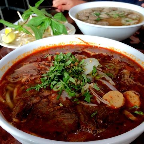 bun bo hue at Huong's Vietnamese Bistro