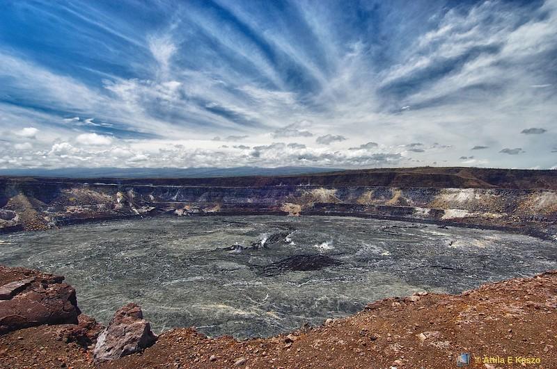Kilauea Volcano Caldera<br /> Big Is. Hawaii, USA