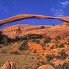 Landscape Arch (Longest arch span in world)<br /> Arches NP, Utah, USA