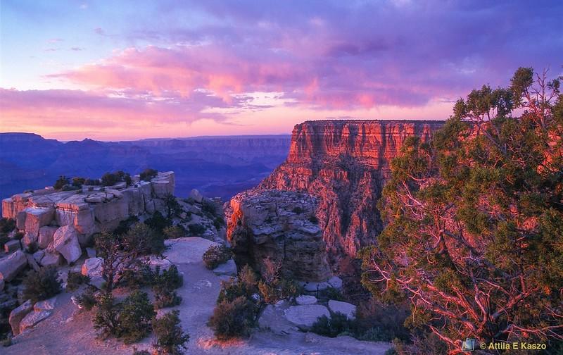 Moran Point - Sunset<br /> Grand Canyon NP, Arizona, USA