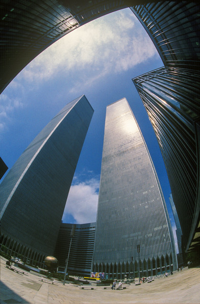 World Trade Centre Thomas Buildings (Built 1972-73)<br /> Manhattan, NYC, USA