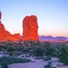 Balanced Rock - Sunset<br /> Arches NP, Utah, USA