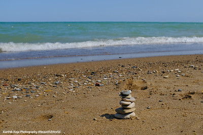 7 stones, Glencoe Beach, Lake Michigan