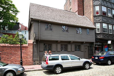Paul Revere's house is now the Italian district.  A quick walk though the small house costs $3.00 per person.
