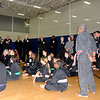 Sensei Liquori addresses the group before the workout.