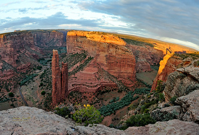 Canyon de Chelly, Sunset last ray, Panorama, AZ sig