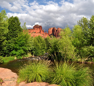 Sedona, Cathedral Rock view from a creek, AZ sig